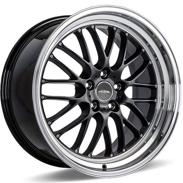 Ace Alloy SL-M D715 Matte Black with Diamond Lip