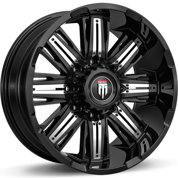 American Truxx AT 152-Stacks Black with Chrome Inserts