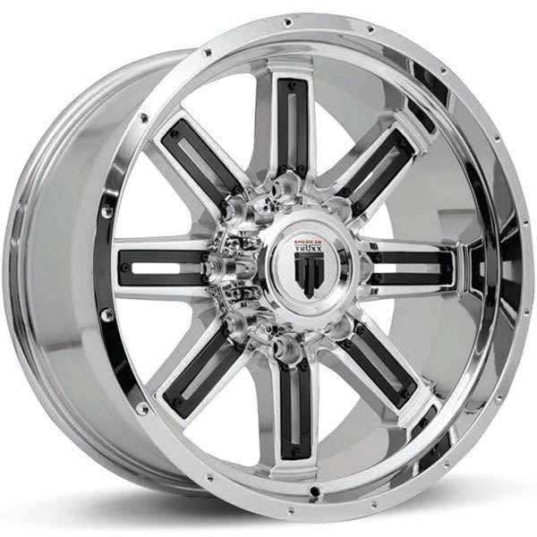 American Truxx AT 153-Steel Chrome with Black Inserts
