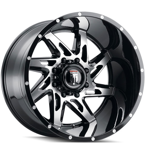 American Truxx AT 183 Spyder Gloss Black with Machined Face