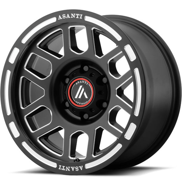 Asanti Off-Road AB-812 Satin Black Milled