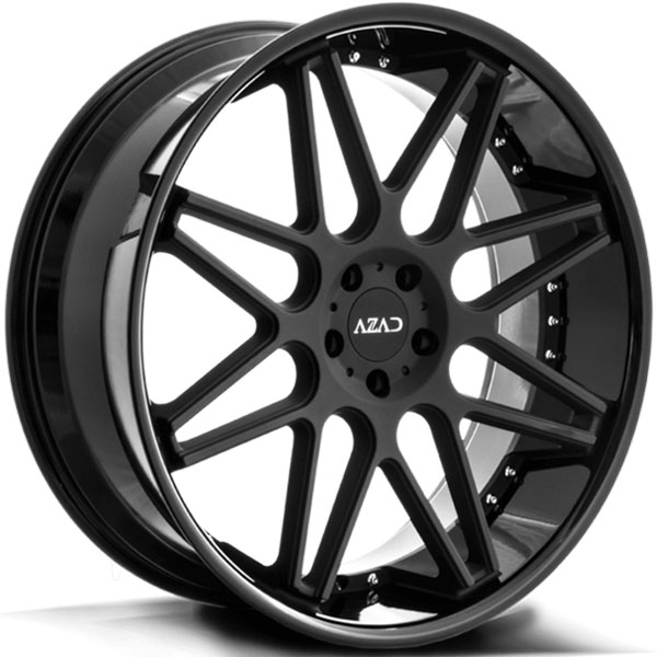 Azad AZ77 Matte Black Center with Gloss Black Lip