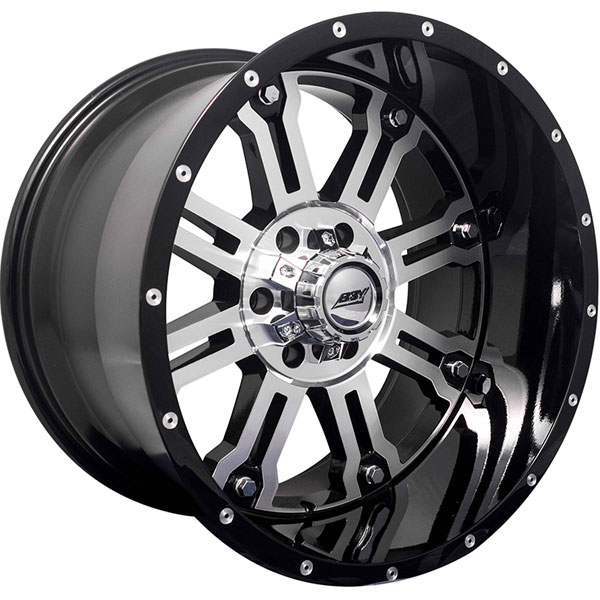 BBY Offroad 02 Big Nutz Black with Machined Face