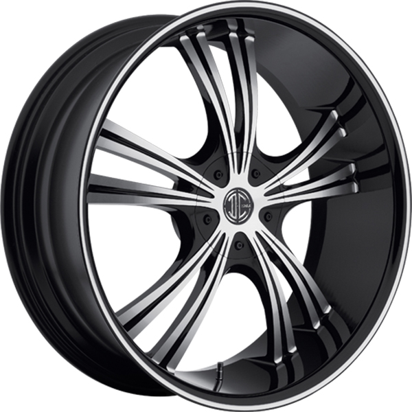 Black Diamond No.2 Gloss Black with Machined Face and Stripe