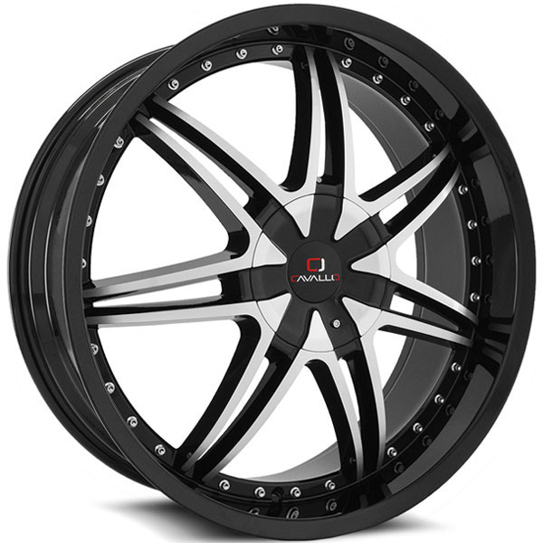 Cavallo CLV-11 Gloss Black with Machined Face