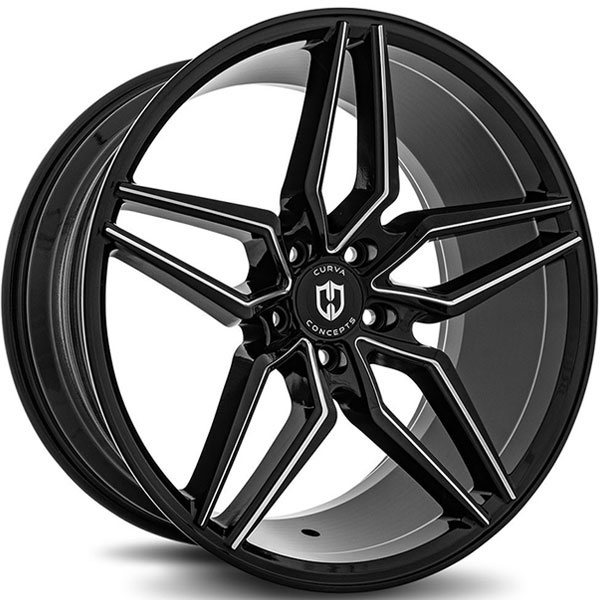 Curva Concepts C25 Gloss Black Milled