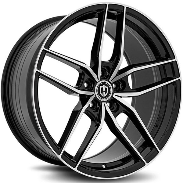 Curva Concepts CFF25 Gloss Black with Machined Face