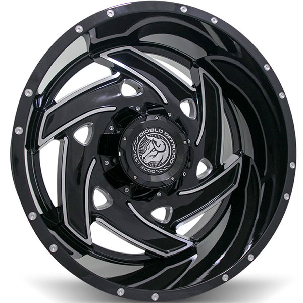 Diablo Offroad Klaw Black with Milled Spokes