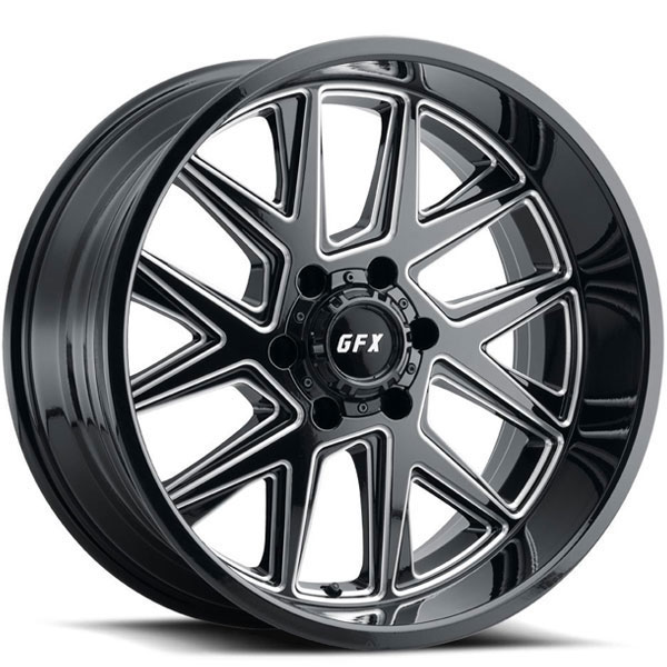G-FX TR6 Gloss Black with Milled Spokes