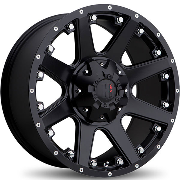 Havok Off-Road H102 Matte Black with Milled Rivets