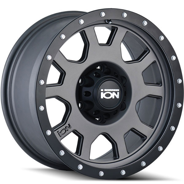 Ion Alloy 135 Matte Gunmetal with Black Beadlock