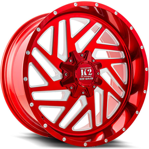 K2 OffRoad K19 Rampage Candy Red with Milled Spokes