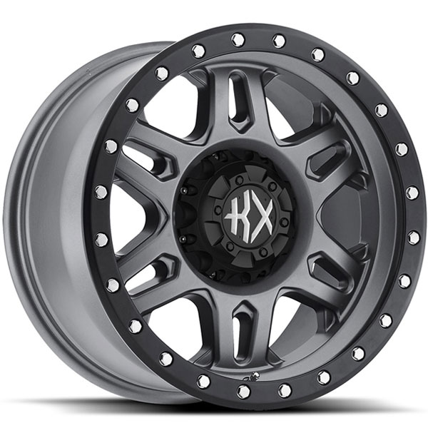 KX Offroad KX04 Matte Grey with Satin Black Ring