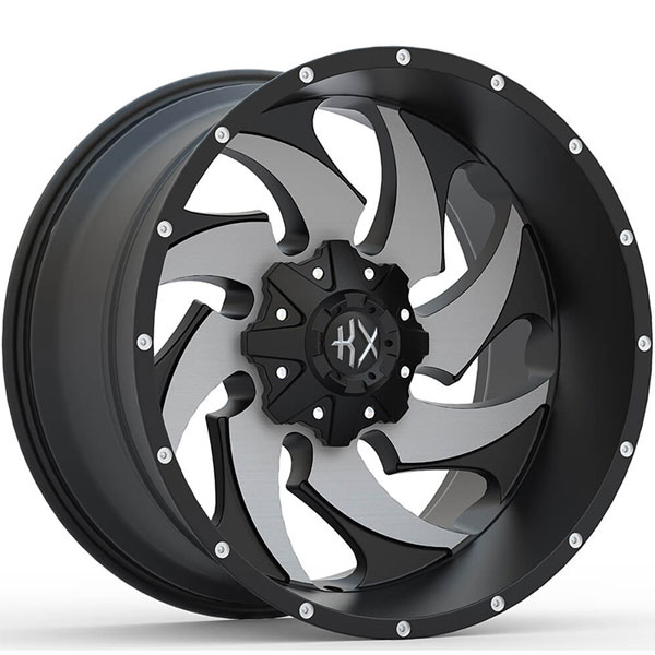 KX Offroad KX13 Matte Black with Machined Face
