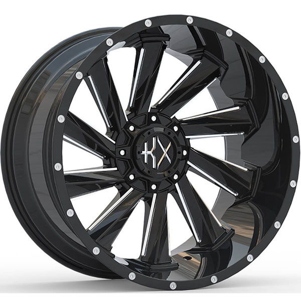 KX Offroad KX15 Gloss Black with Milled Spokes