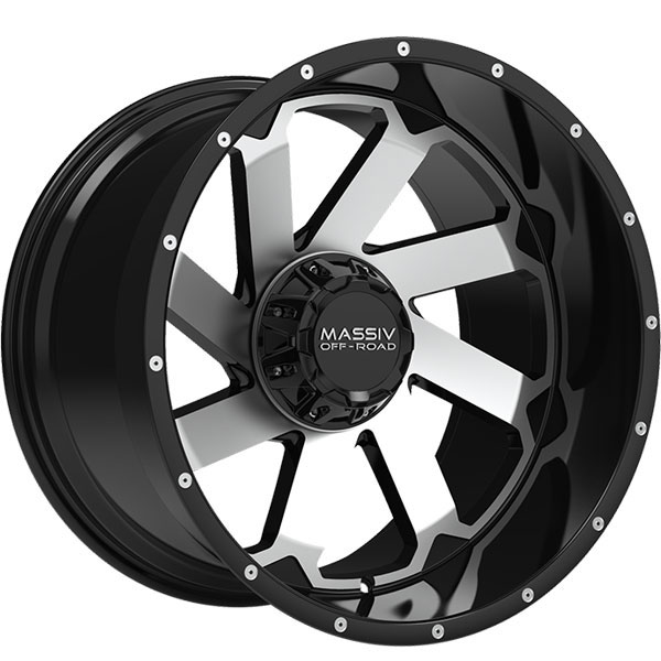Massiv Offroad OR4 Gloss Black with Machined Face