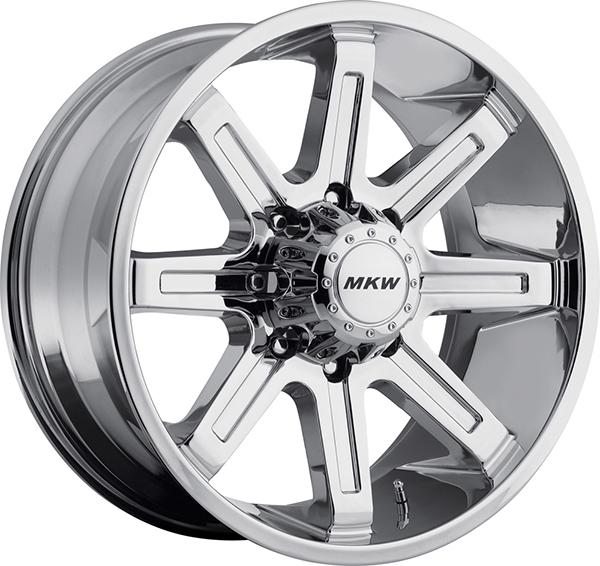 MKW M88 Chrome 8 Lug