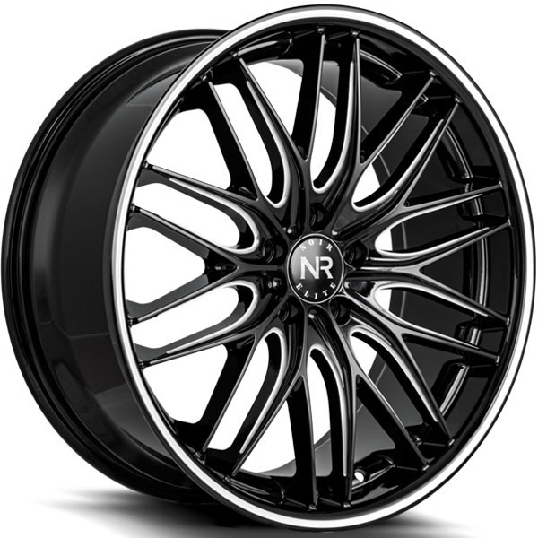 Noir Elite NR106 Gloss Black Milled with Machined Pinstripe