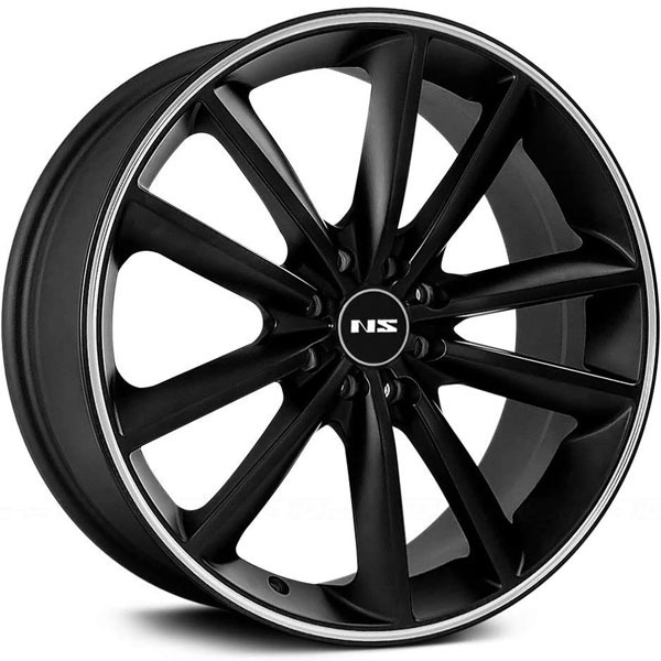 NS Series NS9012 Matte Black with Machined Stripe