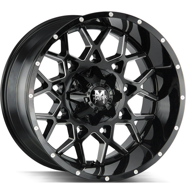Off-Road Monster M14 Gloss Black with Milled Spokes