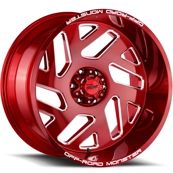 Off-Road Monster M19 Candy Apple Red with Milled Edges