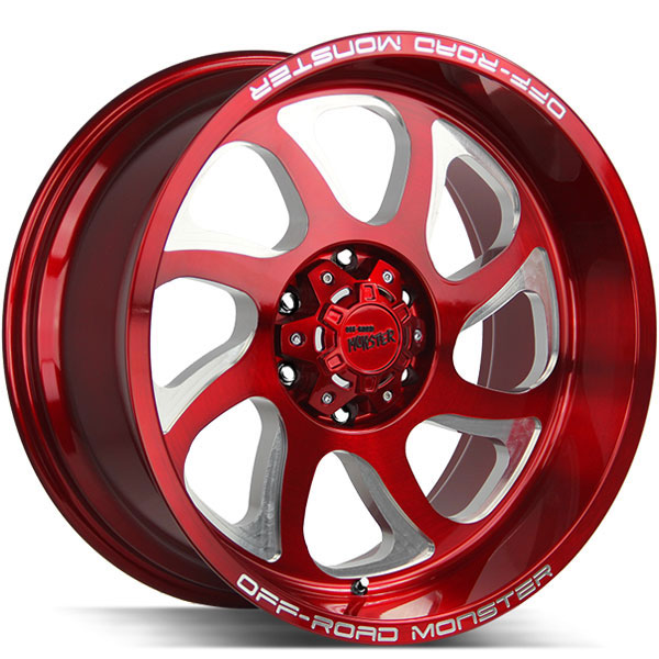Off-Road Monster M22 Candy Red with Milled Spokes