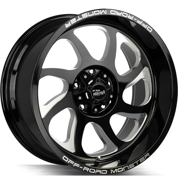 Off-Road Monster M22 Gloss Black with Milled Spokes