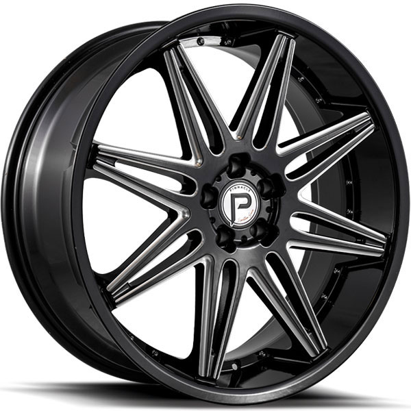 Pinnacle P200 Vibe Gloss Black with Milled Spokes