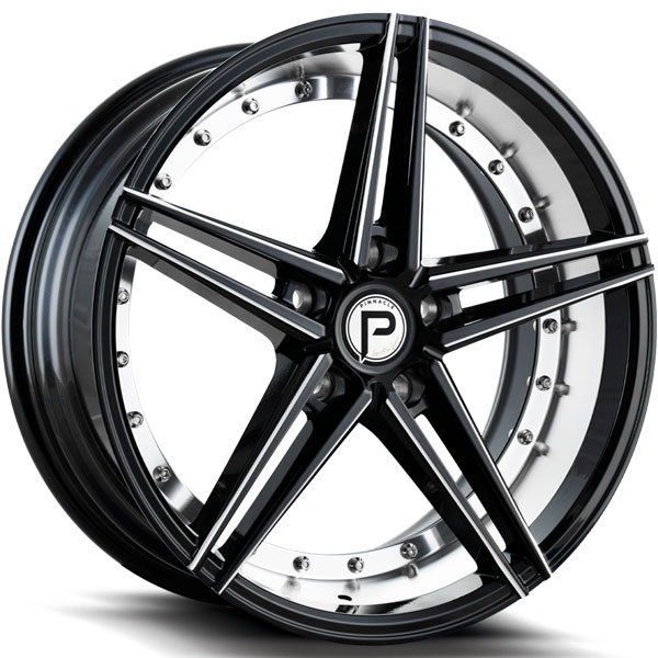 Pinnacle P206 Savage Gloss Black with Inner Machined Milled