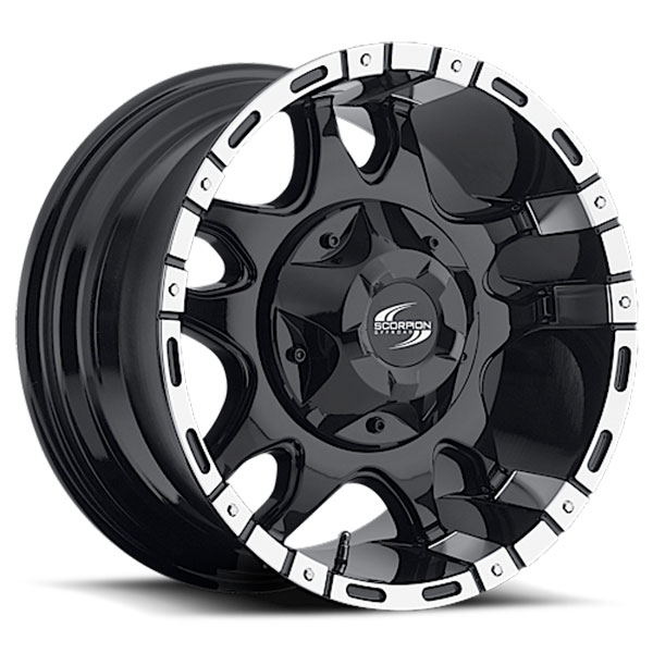 Scorpion Off-Road SC-7 Black with Machined Face