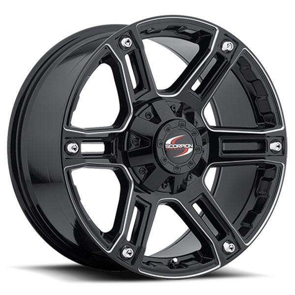 Scorpion Off-Road SC-8 Milled Black