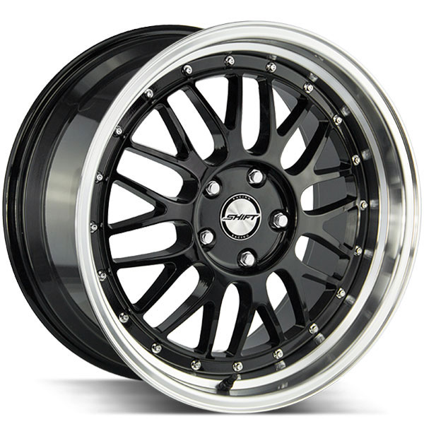 Shift Flywheel Gloss Black with Polished Lip