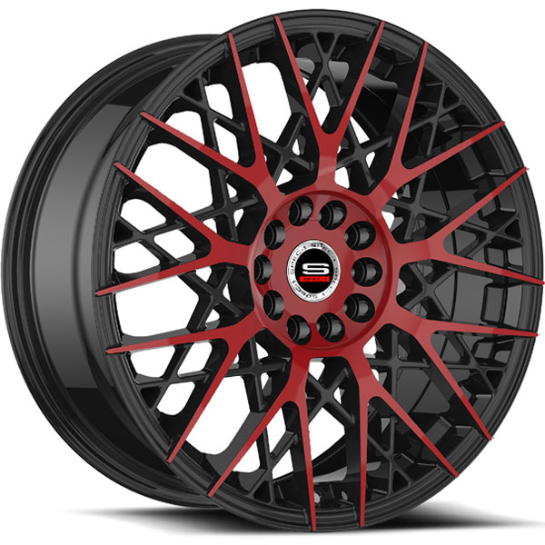 Spec-1 SP-53 Gloss Black with Red Milled Spokes