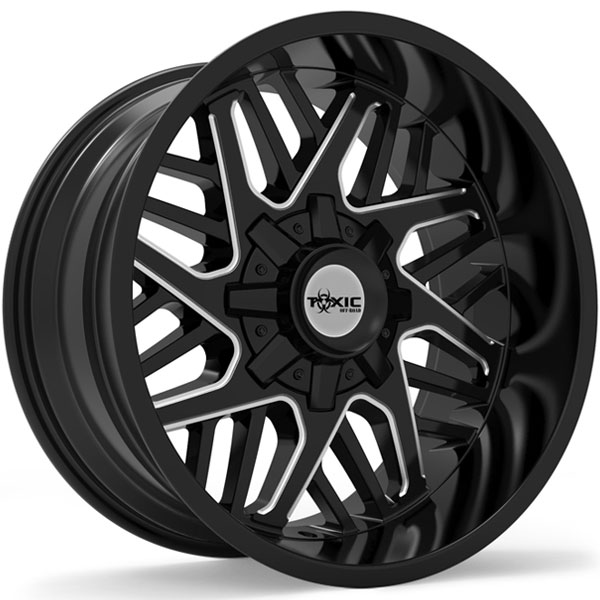 Toxic Lethal Gloss Black with Milled Spokes