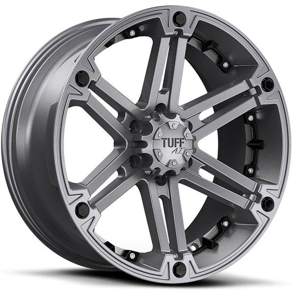 Tuff T01 Satin Gunmetal with Black Inserts