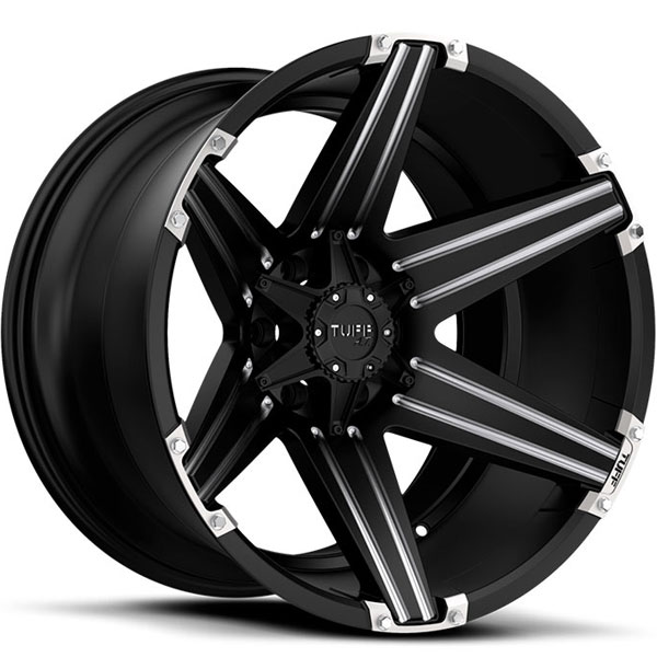 Tuff T12 Satin Black with Milled Accents