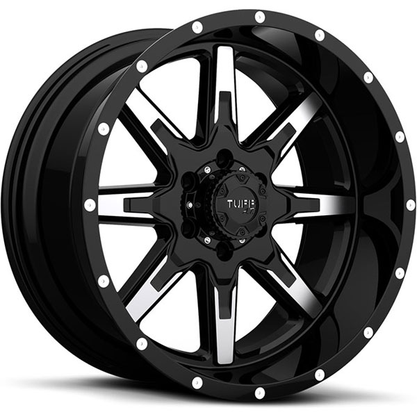 Tuff T15 Gloss Black with Machined Face