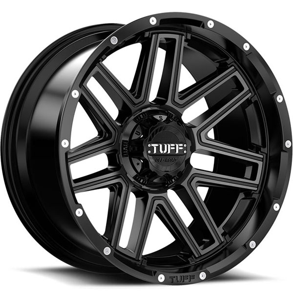 Tuff T17 Satin Black with Machined Face