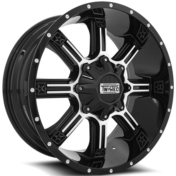 Twisted Off-Road T-21 Radar Black with Machined Face
