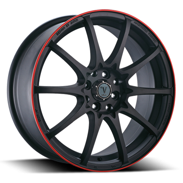 Velocity VW 211 Black with Red Stripe