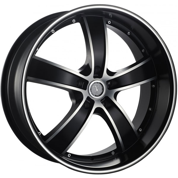 Velocity VW 855A Black with Machined Face and Stripe