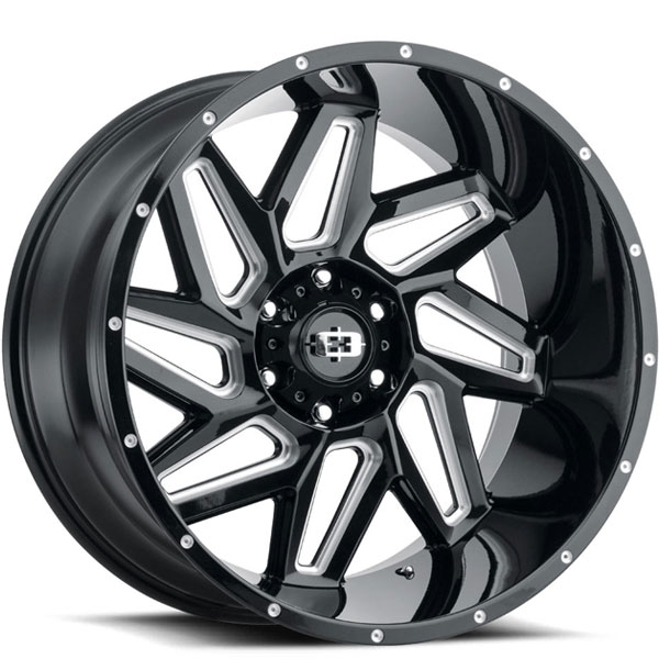 Vision 361 Spyder Gloss Black with Milled Spokes