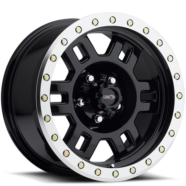 Vision 398 Manx Gloss Black with Machined Lip and Zinc Bolts