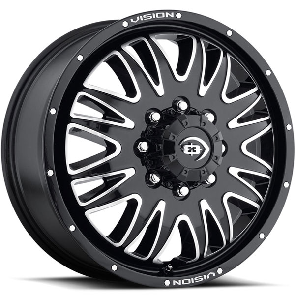Vision 401 Rival Gloss Black with Machined Face Front