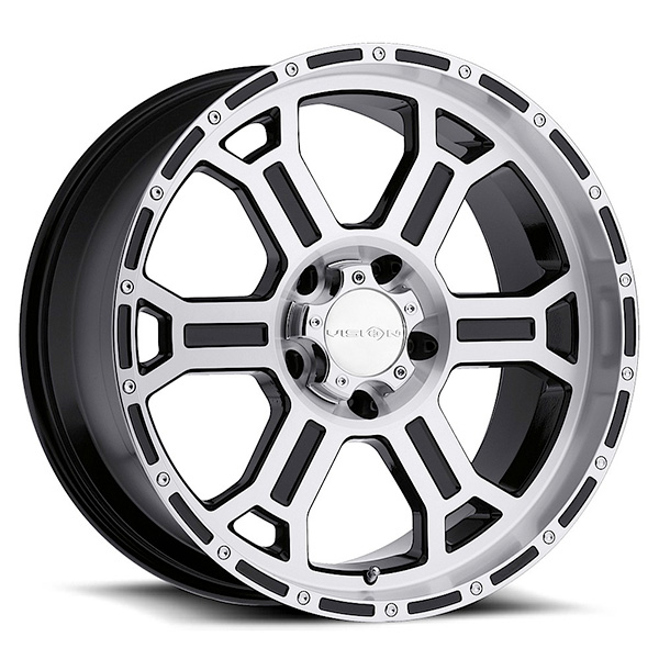 Vision Off-Road 372 Raptor Gloss Black Machined