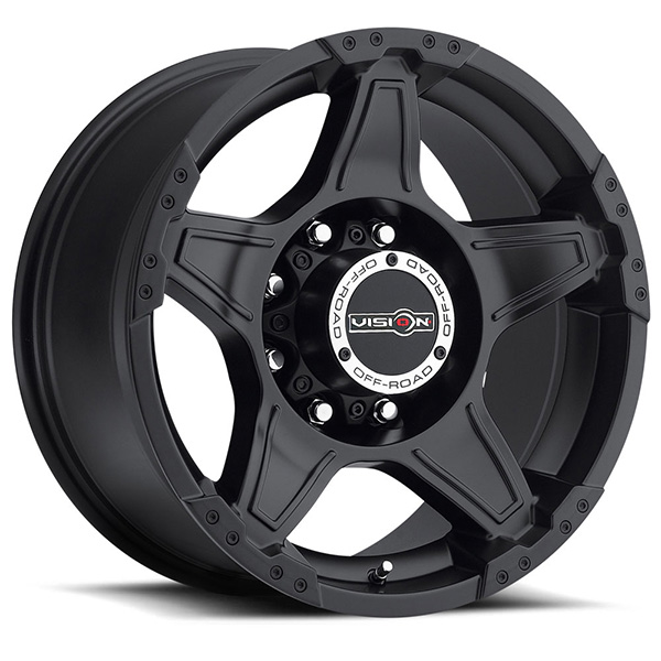 Vision Off-Road 395 Wizard Matte Black Concave