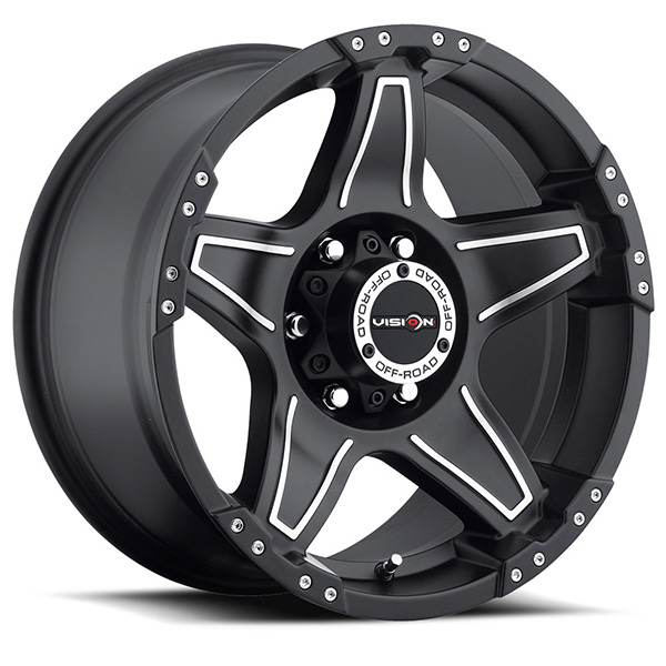 Vision Off-Road 395 Wizard Matte Black with Machined
