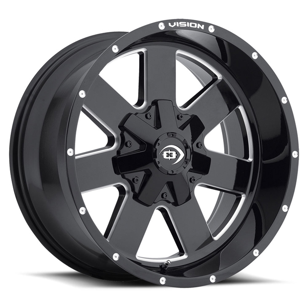 Vision Off-Road 411 Arc Gloss Black Milled Spokes