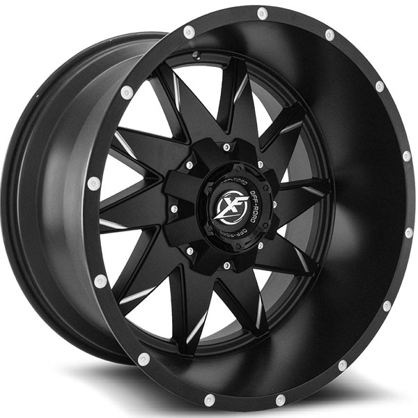 XF Off-Road XF-208 Matte Black Milled Line