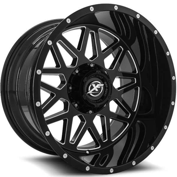 XF Off-Road XF-211 Gloss Black Milled